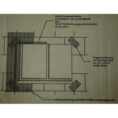 FEMA - Tissu d'armature diagonale - Rlx de 50 m