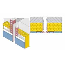 Profilé pour joint de dilatation en façade droite