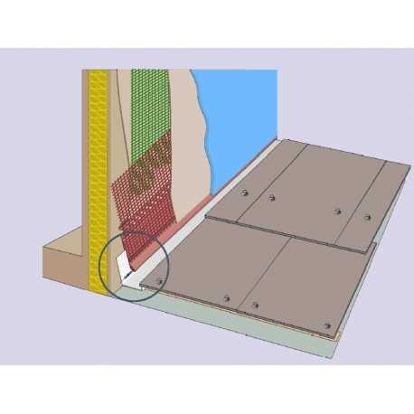 Profilé de jonction entre isolant et parties métalliques
