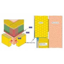 Profile de jonction pour socles en retrait ou isolant périmétrique