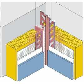 Profilé pour joint de dilatation en façade d'angle
