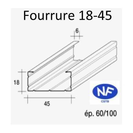 fourrure pour ossature m tallique label energie drive. Black Bedroom Furniture Sets. Home Design Ideas
