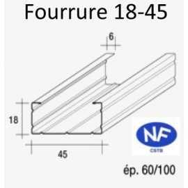 Fourrure pour ossature métallique