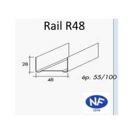 rail pour ossature m tallique label energie drive. Black Bedroom Furniture Sets. Home Design Ideas