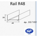 Rail pour ossature métallique