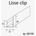 Lisse clip pour fourrure métallique