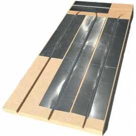 Plancher chauffant sec fibre de bois