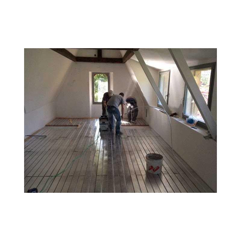 plancher et mur chauffant sec eco en fibre de bois. Black Bedroom Furniture Sets. Home Design Ideas