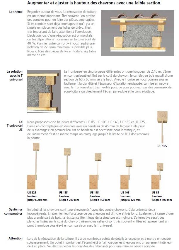 poutre en t universel pour la toiture et la fa ade ajustable label energie drive. Black Bedroom Furniture Sets. Home Design Ideas